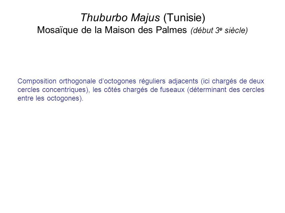 Thuburbo Majus (Tunisie) Mosaïque de la Maison des Palmes (début 3e siècle)