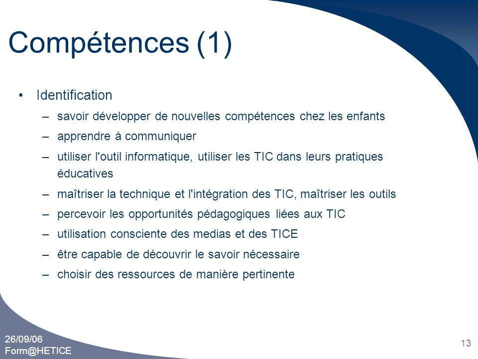 Compétences (1) Identification