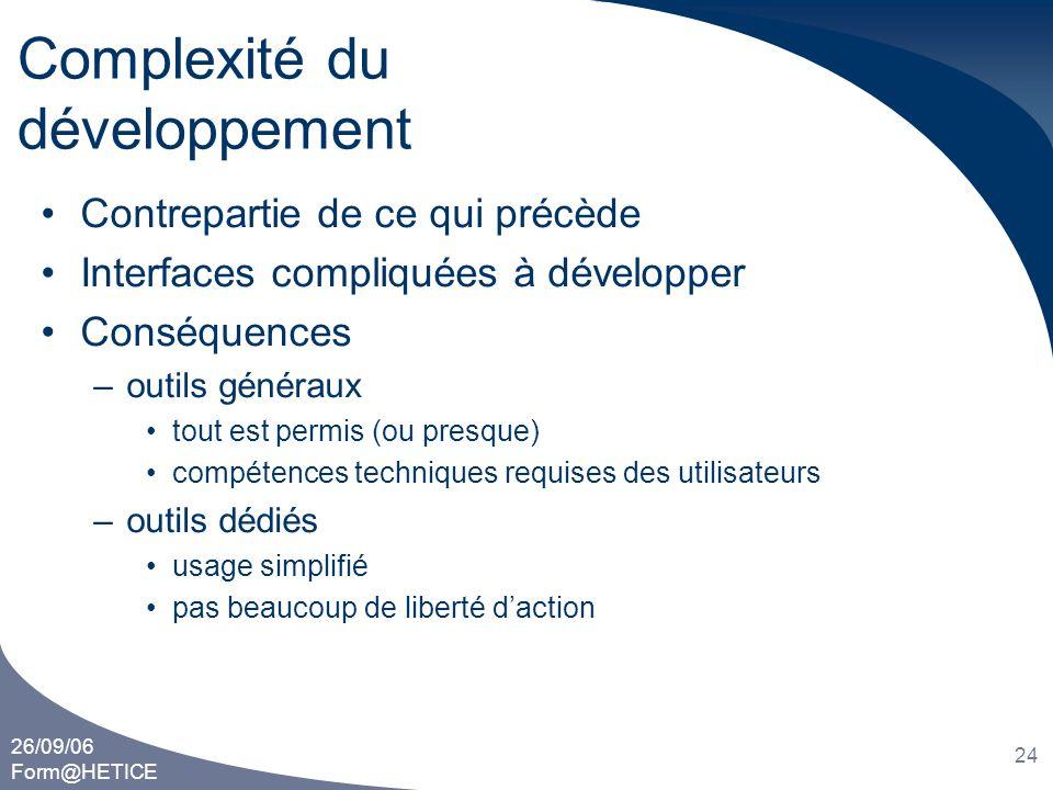 Complexité du développement