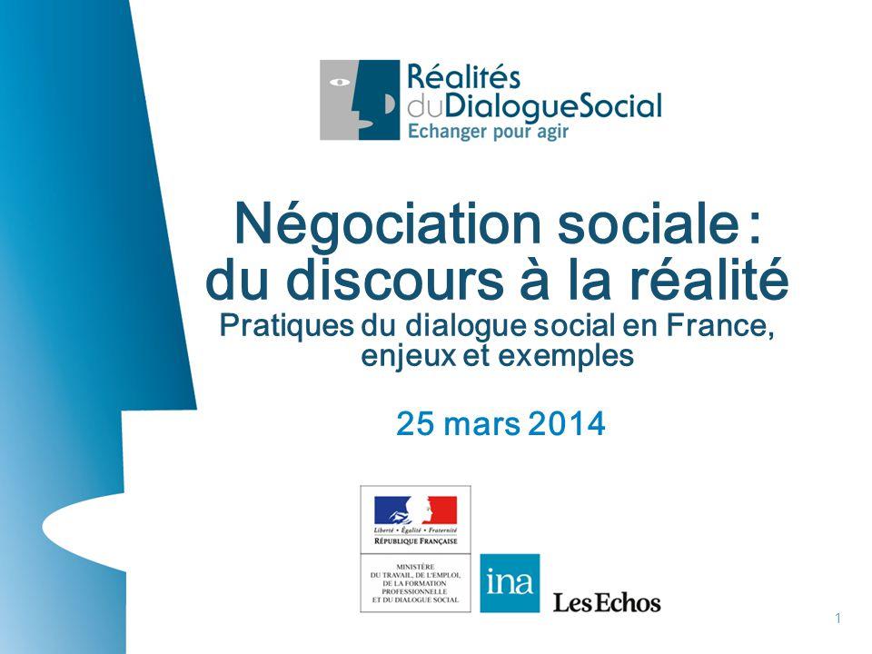 du discours à la réalité Pratiques du dialogue social en France,