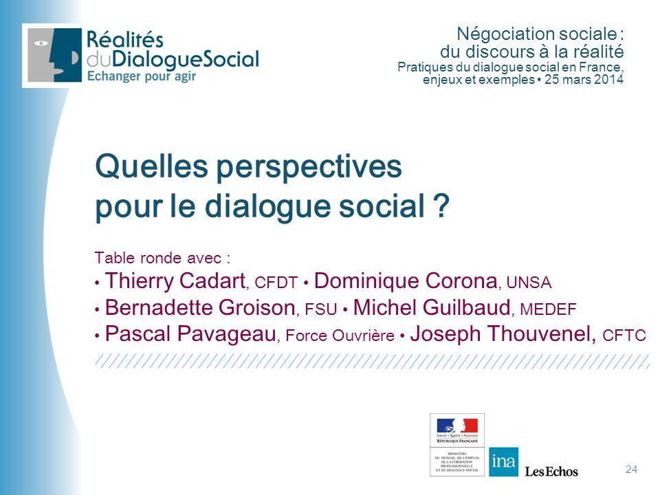 pour le dialogue social