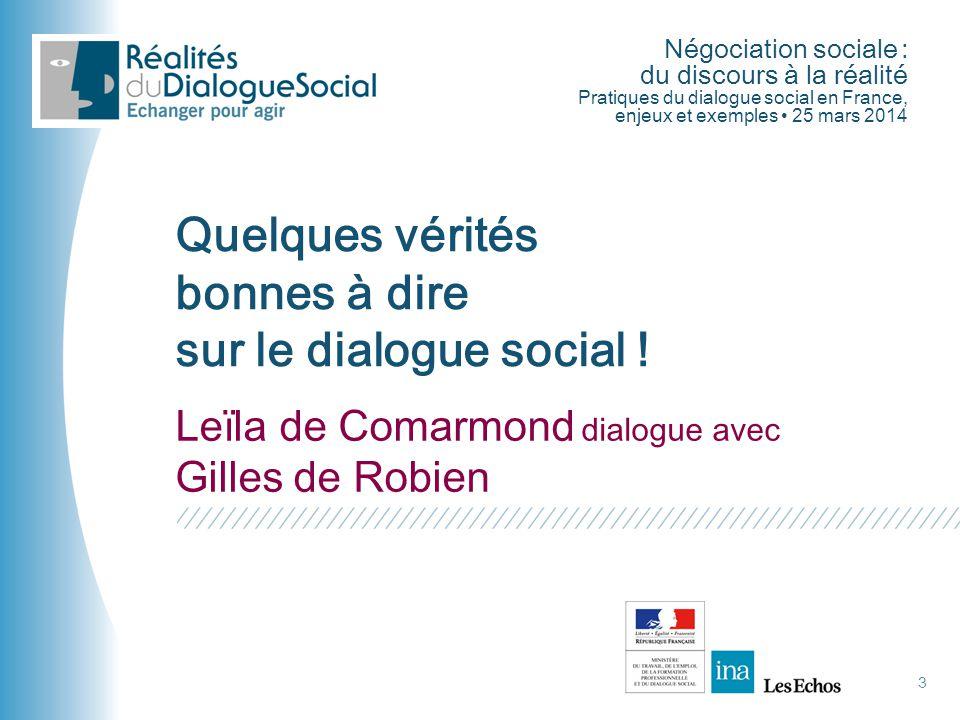 Quelques vérités bonnes à dire sur le dialogue social !