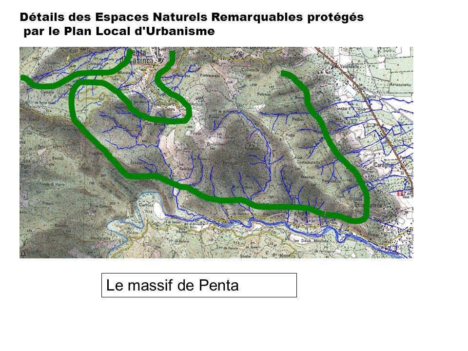Le massif de Penta Détails des Espaces Naturels Remarquables protégés