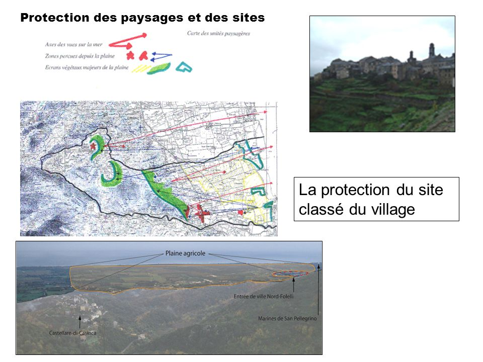La protection du site classé du village