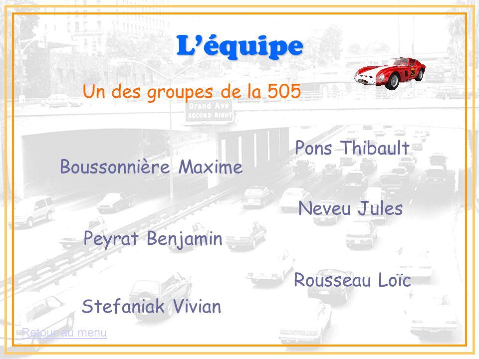 L'équipe Un des groupes de la 505 Pons Thibault Boussonnière Maxime