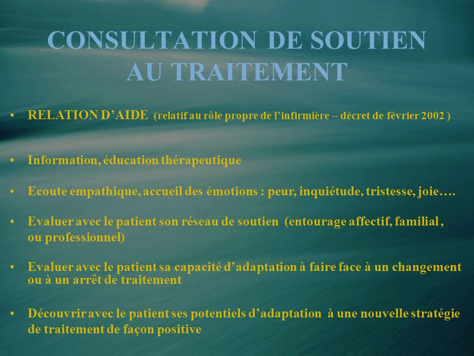 CONSULTATION DE SOUTIEN AU TRAITEMENT