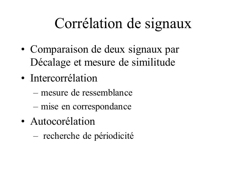 Corrélation de signaux