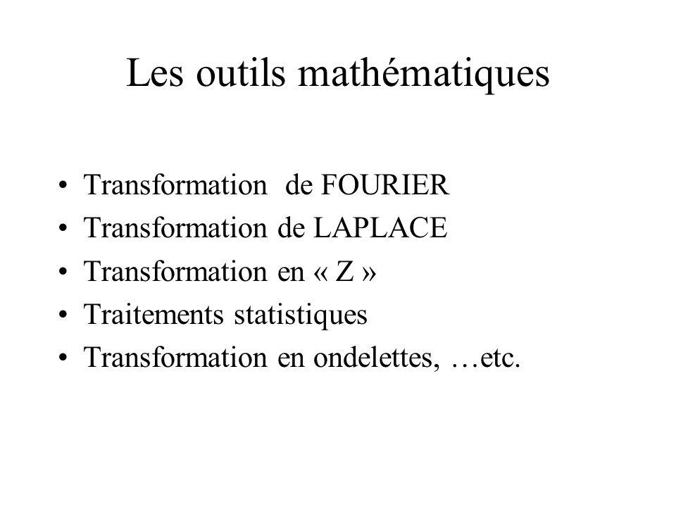 Les outils mathématiques