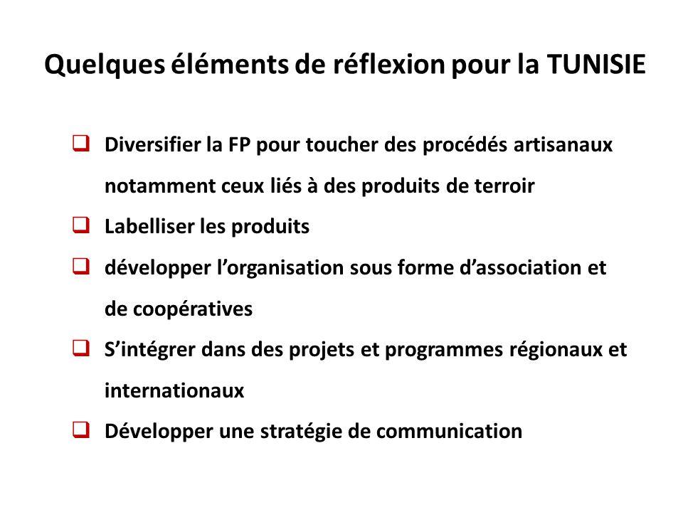 Quelques éléments de réflexion pour la TUNISIE