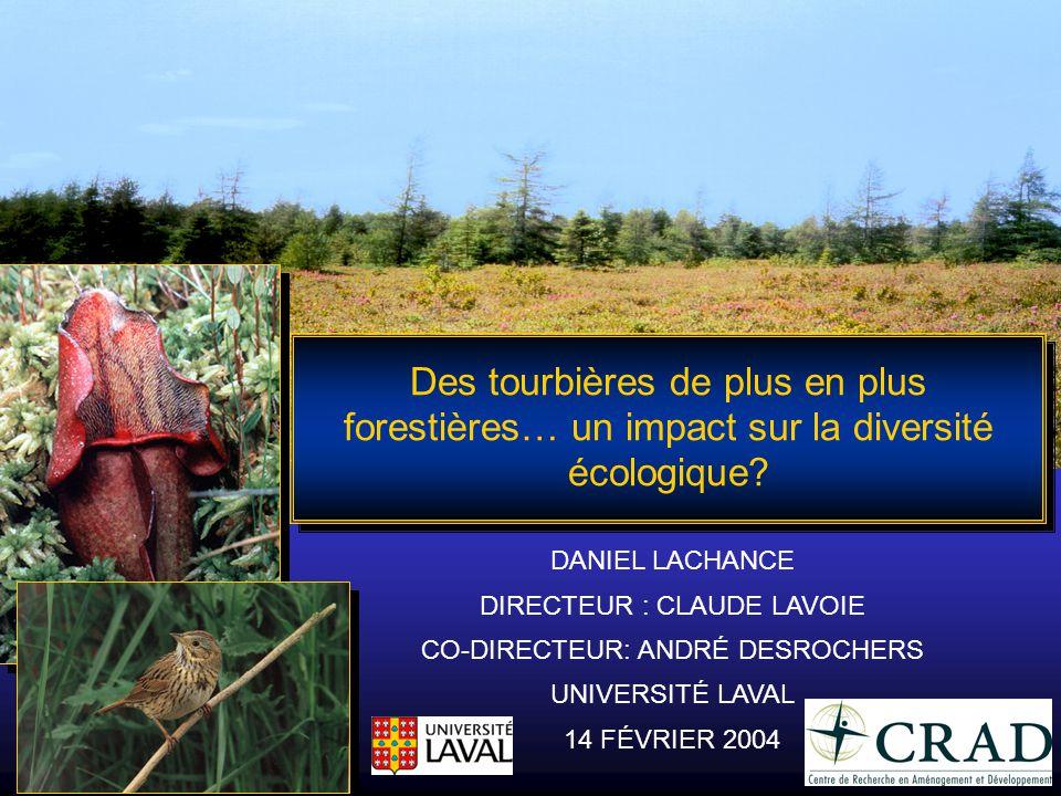 Des tourbières de plus en plus forestières… un impact sur la diversité écologique