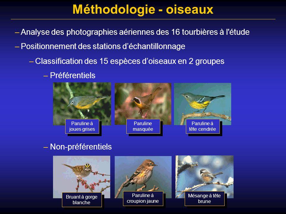 Méthodologie - oiseaux
