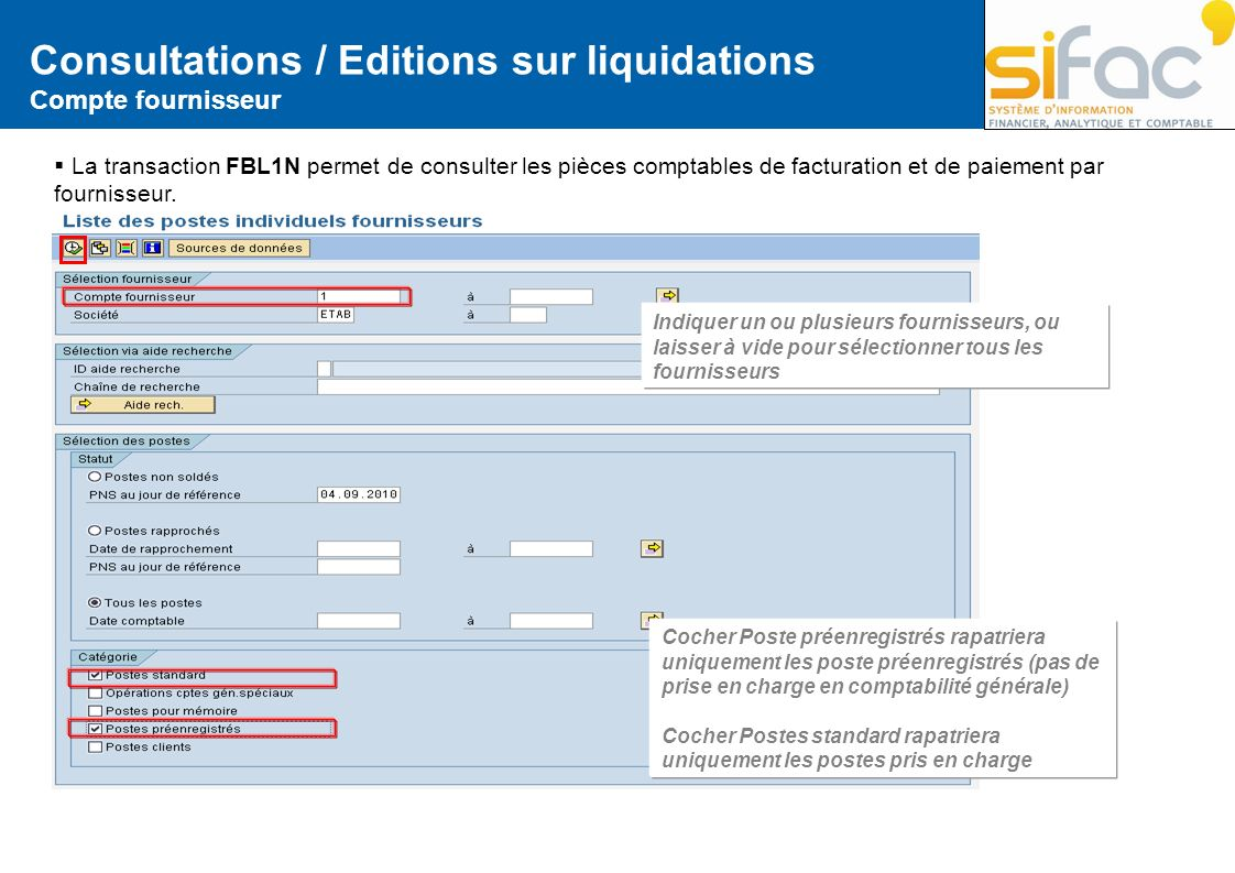 Consultations / Editions sur liquidations