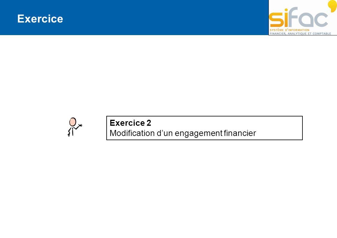 Exercice Exercice 2 Modification d'un engagement financier