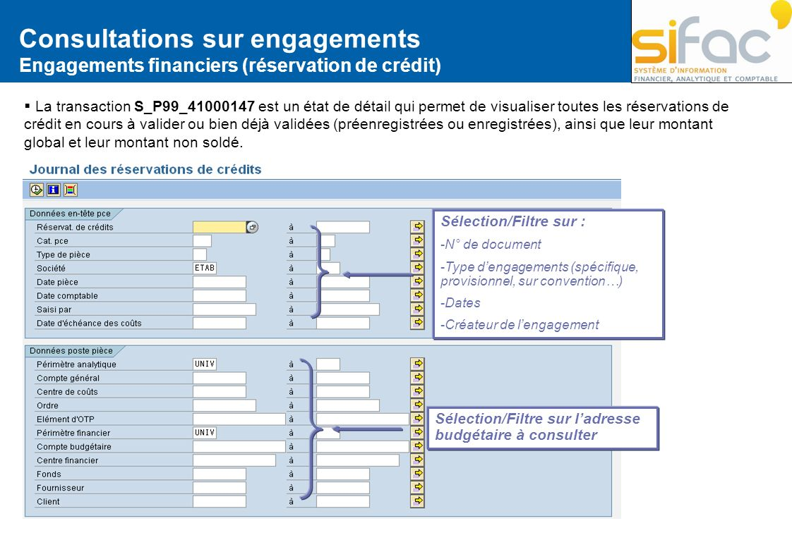 Consultations sur engagements