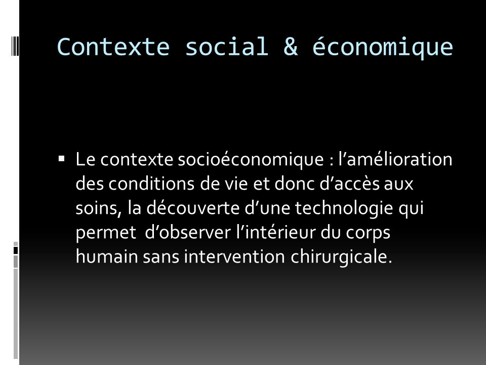 Contexte social & économique