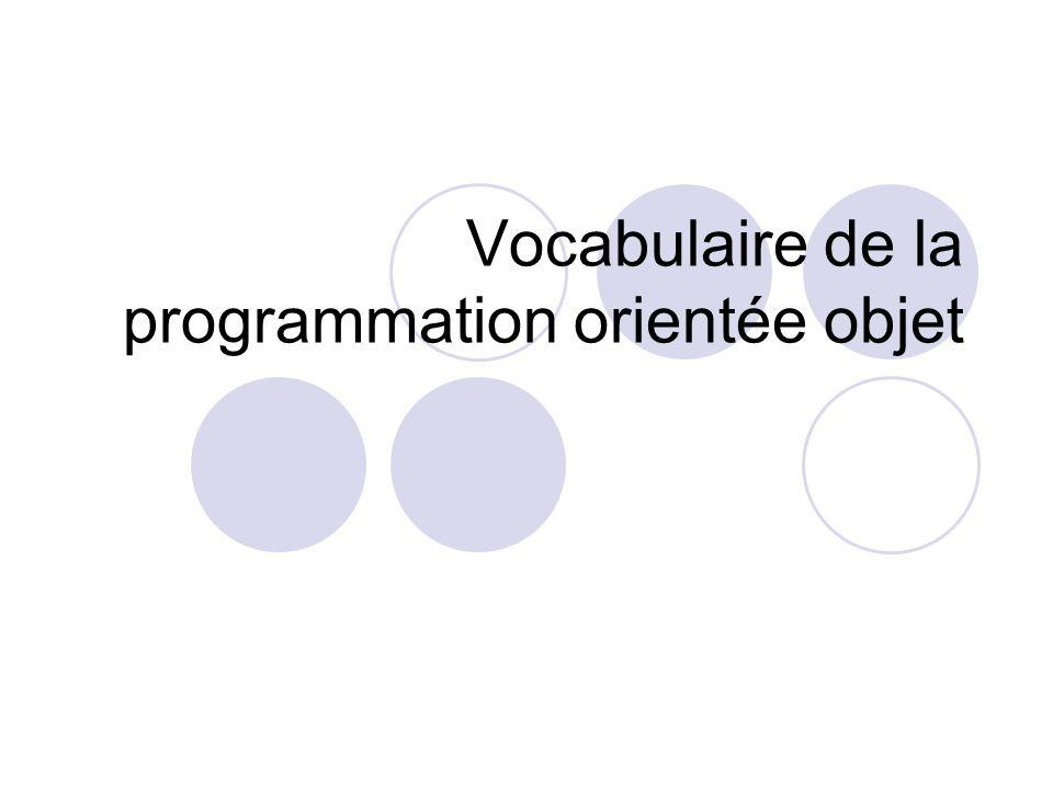 Vocabulaire de la programmation orientée objet