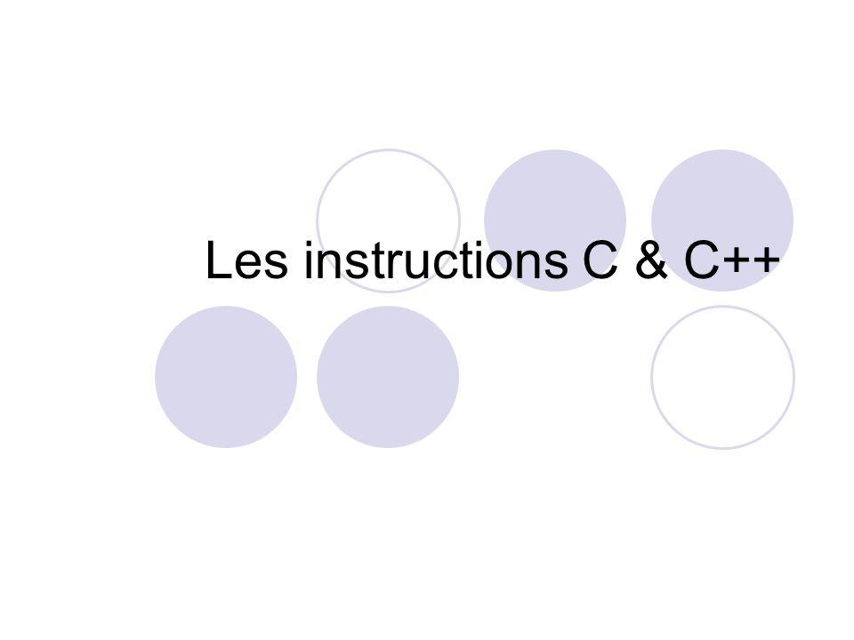 Les instructions C & C++