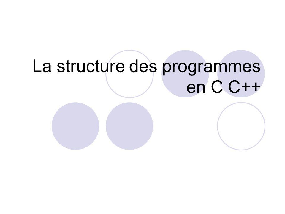 La structure des programmes en C C++