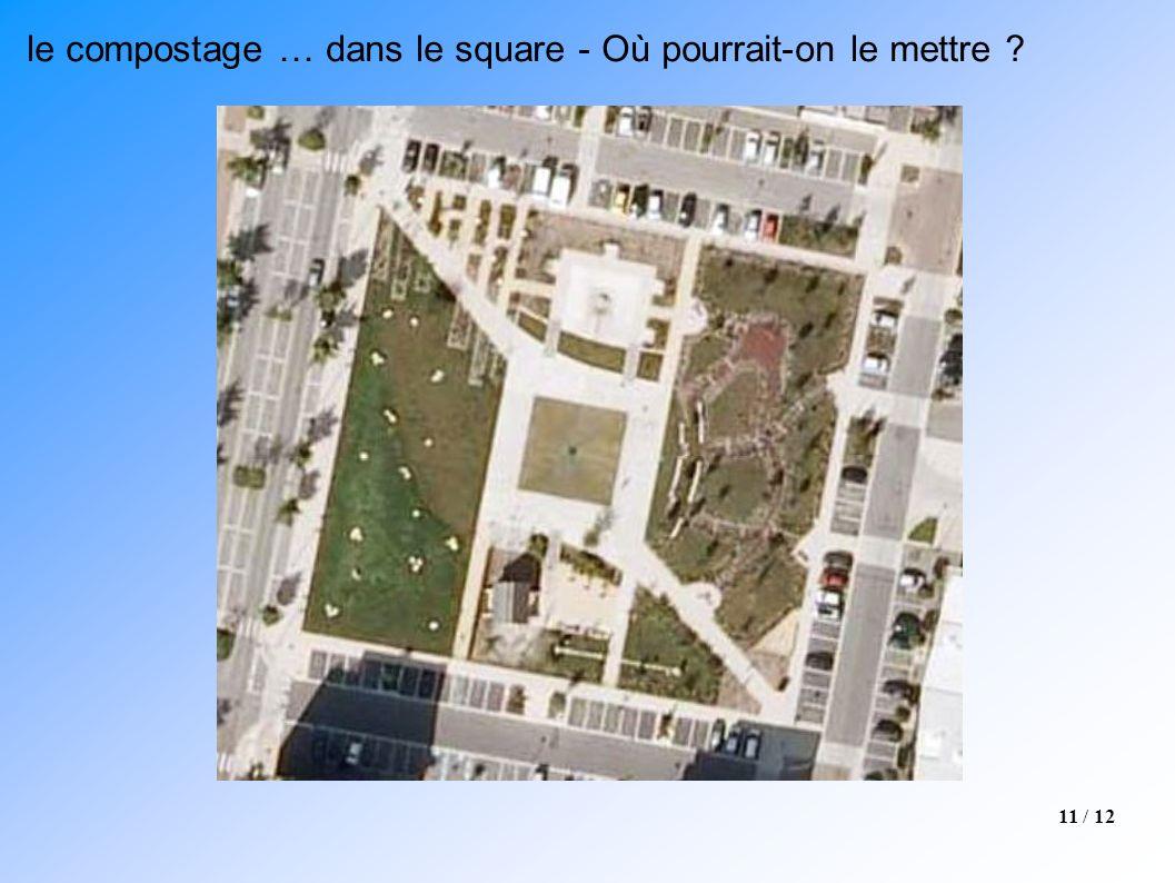 le compostage … dans le square - Où pourrait-on le mettre
