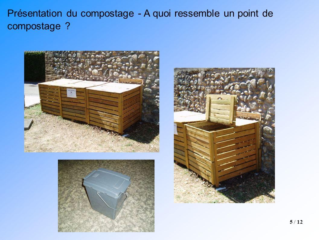 Présentation du compostage - A quoi ressemble un point de compostage