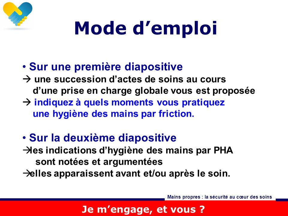 Mode d'emploi Sur une première diapositive Sur la deuxième diapositive