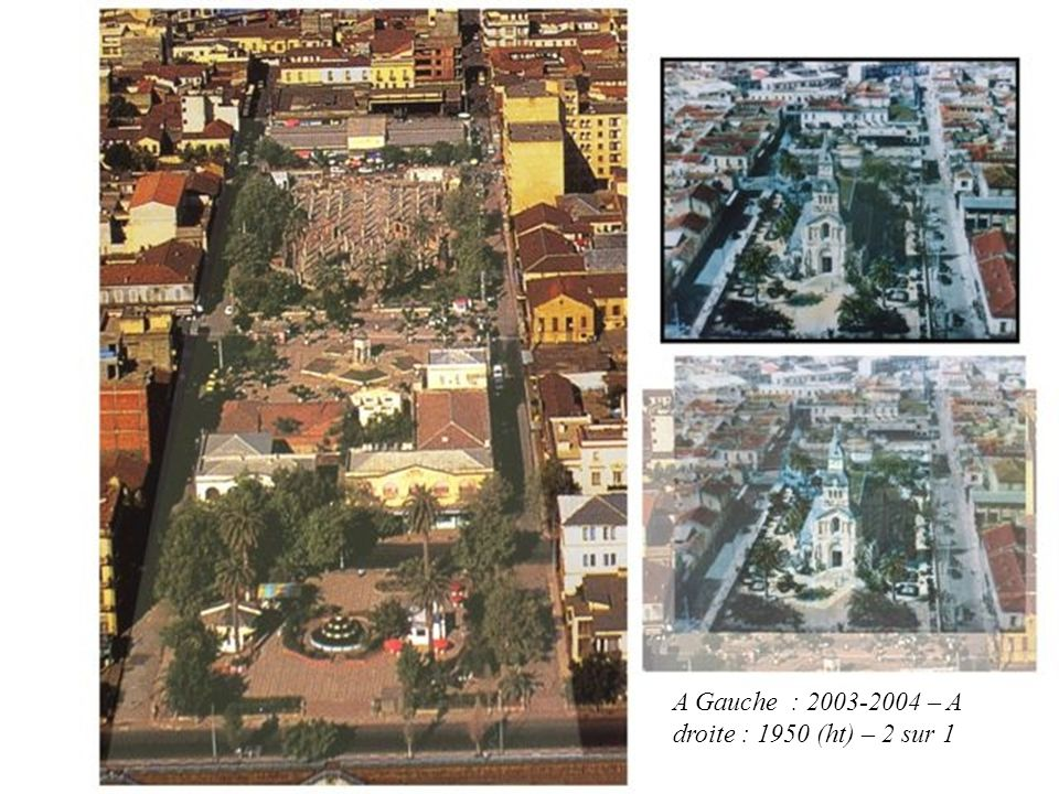 A Gauche : 2003-2004 – A droite : 1950 (ht) – 2 sur 1