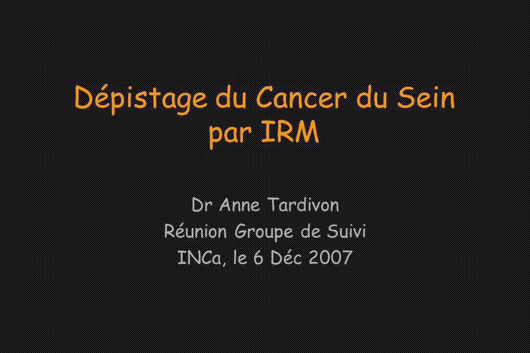 Dépistage du Cancer du Sein par IRM