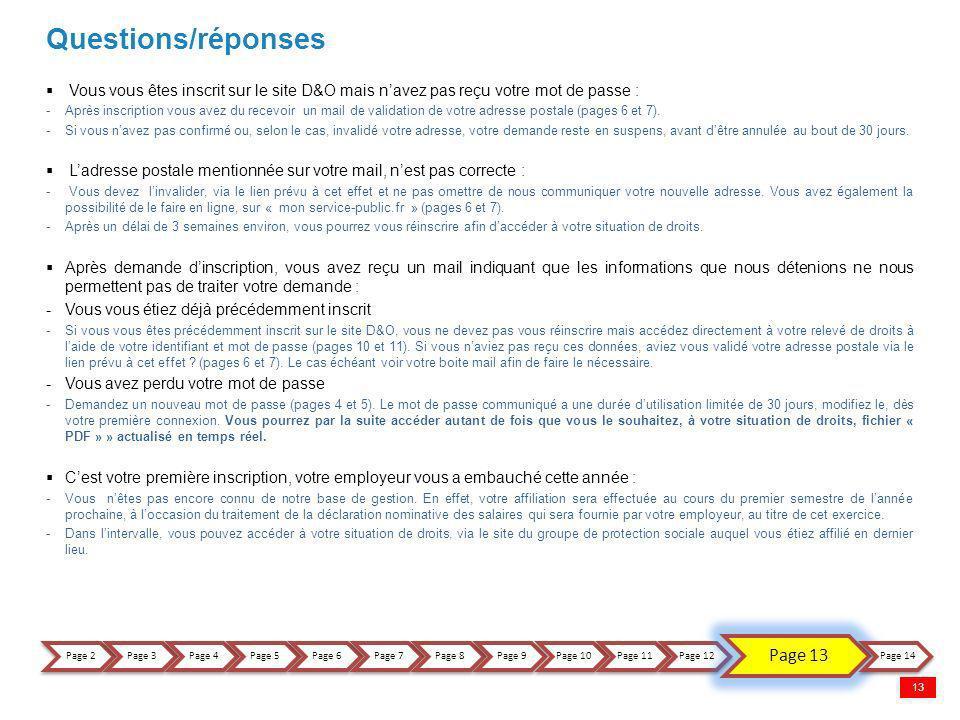 Questions/réponses Page 13 18/11/2011