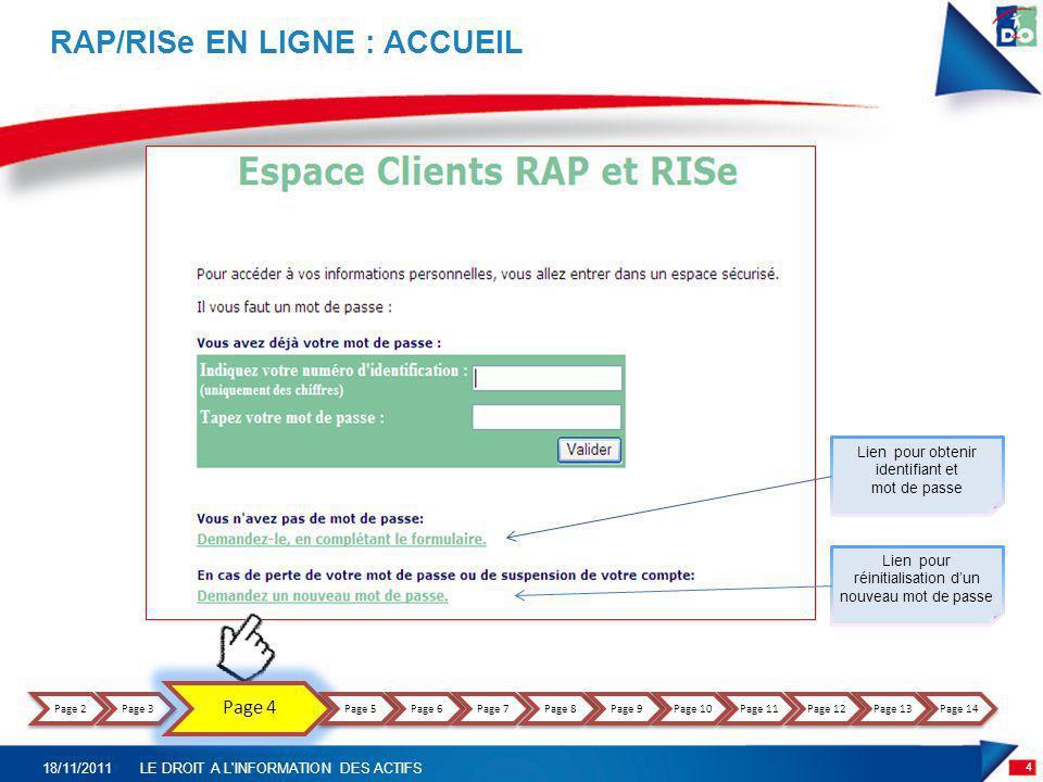 RAP/RISe EN LIGNE : ACCUEIL