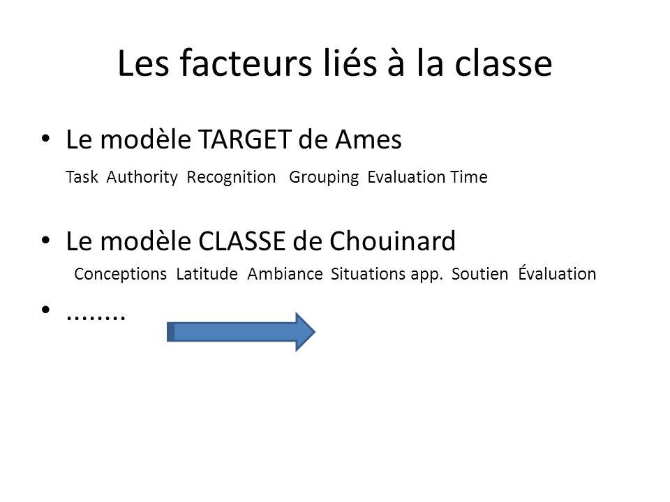 Les facteurs liés à la classe