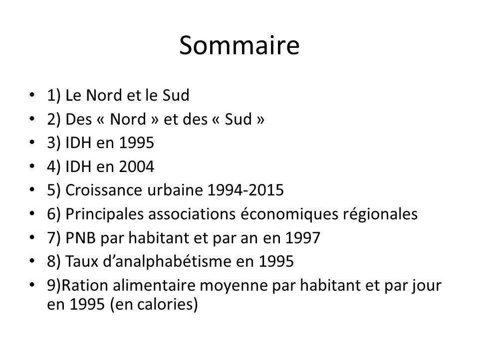 Sommaire 1) Le Nord et le Sud 2) Des « Nord » et des « Sud »