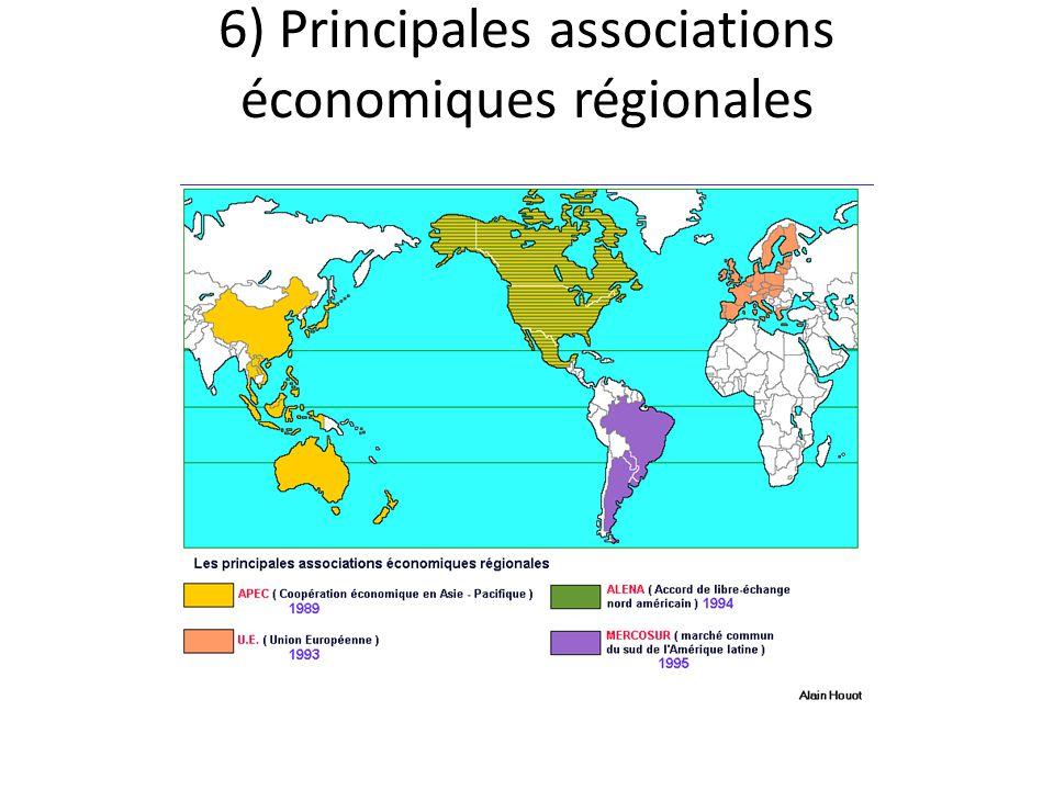 6) Principales associations économiques régionales