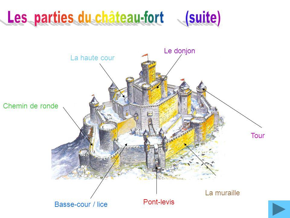 Les parties du château-fort (suite)
