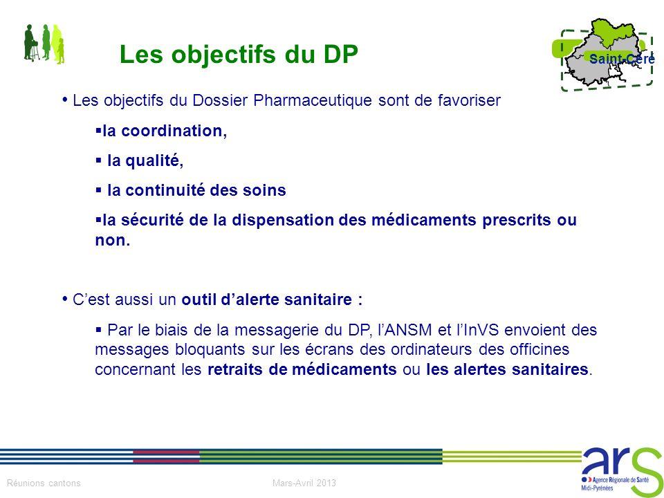 Les objectifs du DP Les objectifs du Dossier Pharmaceutique sont de favoriser. la coordination, la qualité,