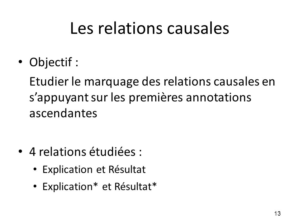 Les relations causales