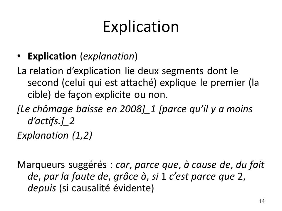 Explication Explication (explanation)