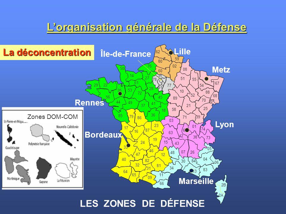 L'organisation générale de la Défense