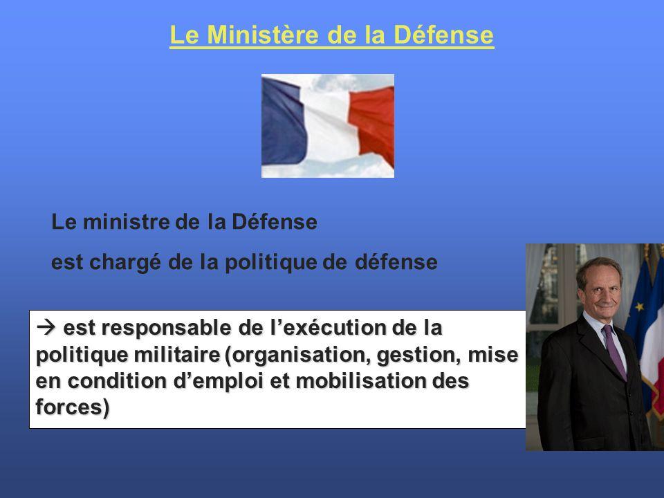 Le Ministère de la Défense