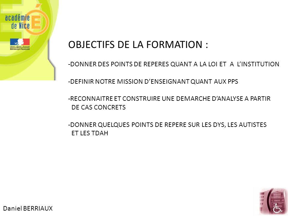 OBJECTIFS DE LA FORMATION :