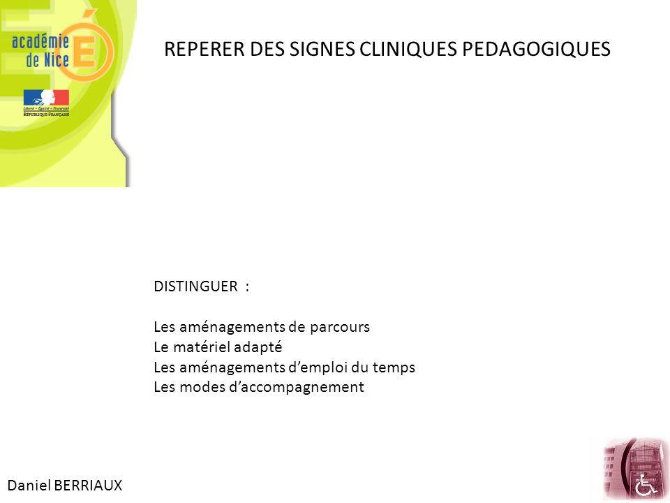REPERER DES SIGNES CLINIQUES PEDAGOGIQUES