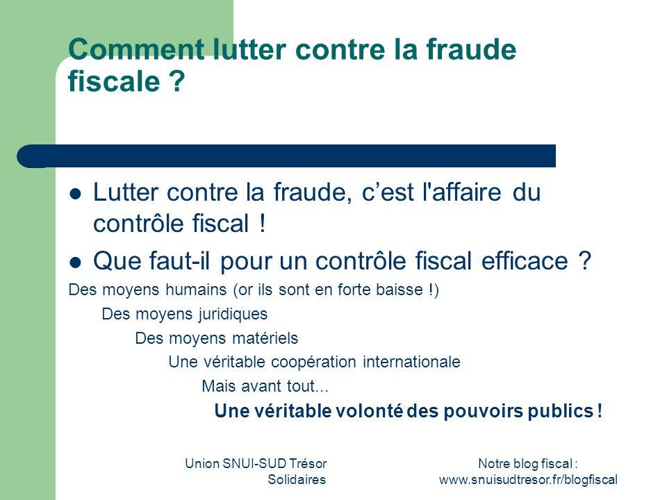 Comment lutter contre la fraude fiscale