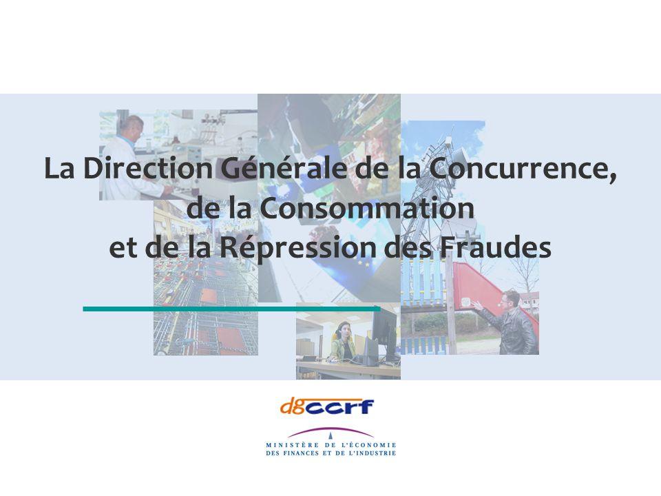 La Direction Générale de la Concurrence, de la Consommation et de la Répression des Fraudes