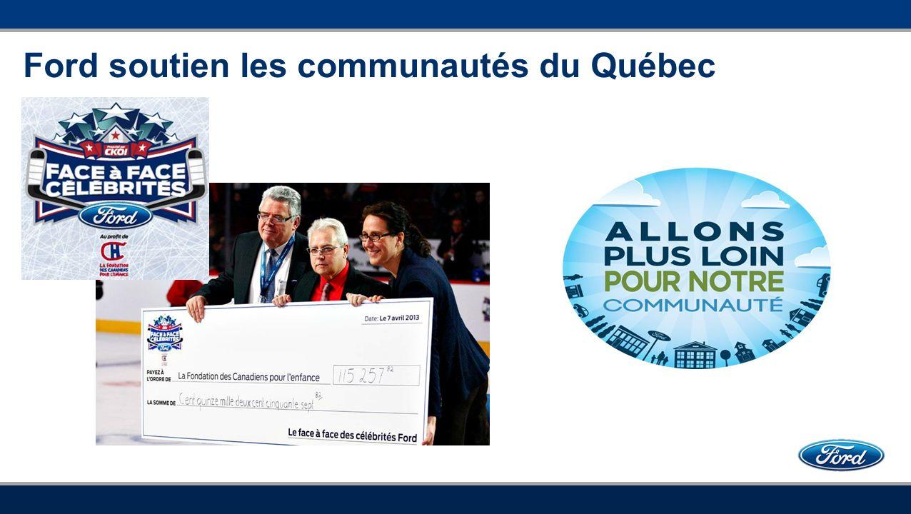 Ford soutien les communautés du Québec