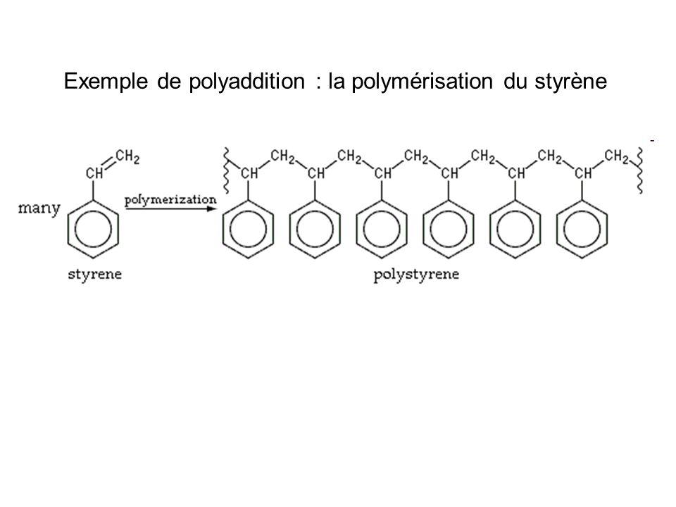 Exemple de polyaddition : la polymérisation du styrène
