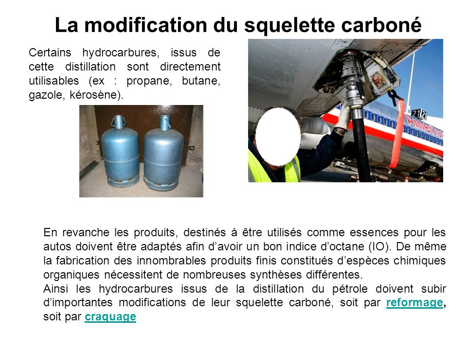 La modification du squelette carboné
