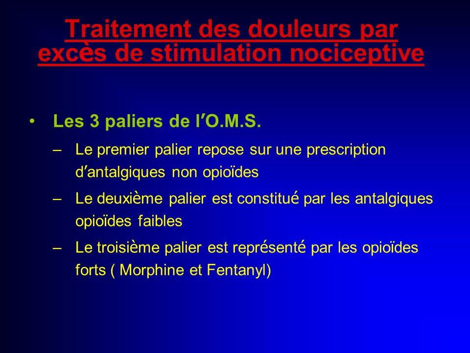 Traitement des douleurs par excès de stimulation nociceptive