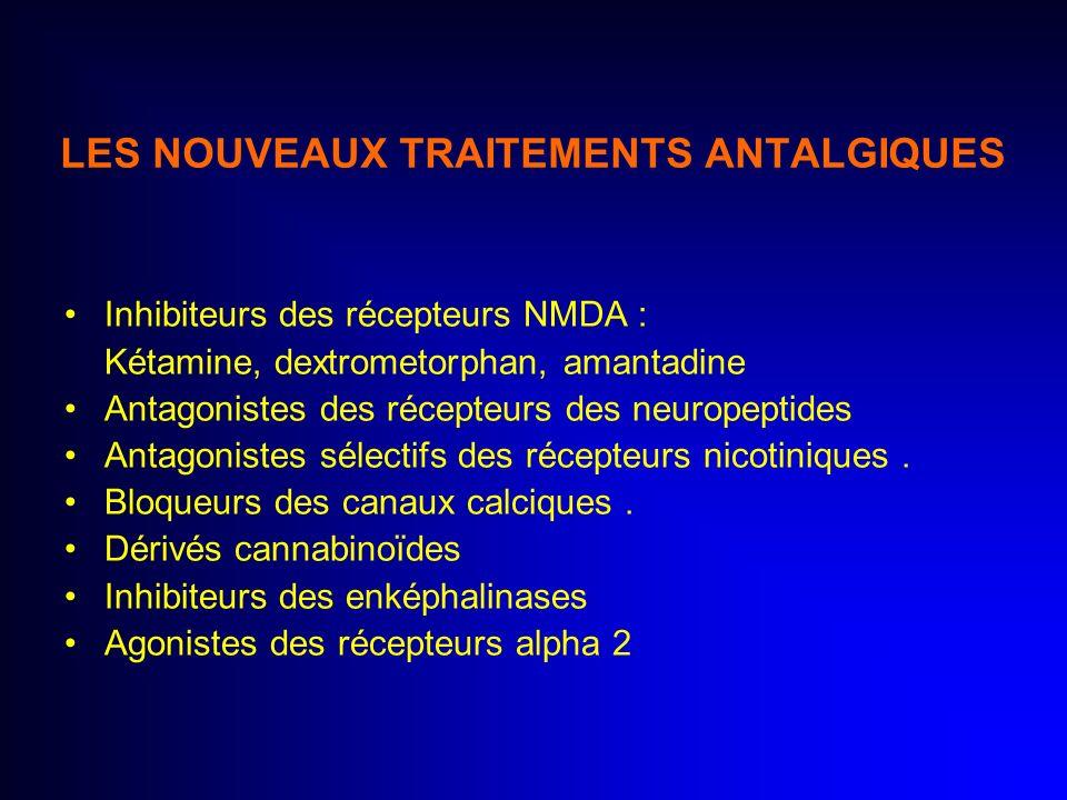 LES NOUVEAUX TRAITEMENTS ANTALGIQUES