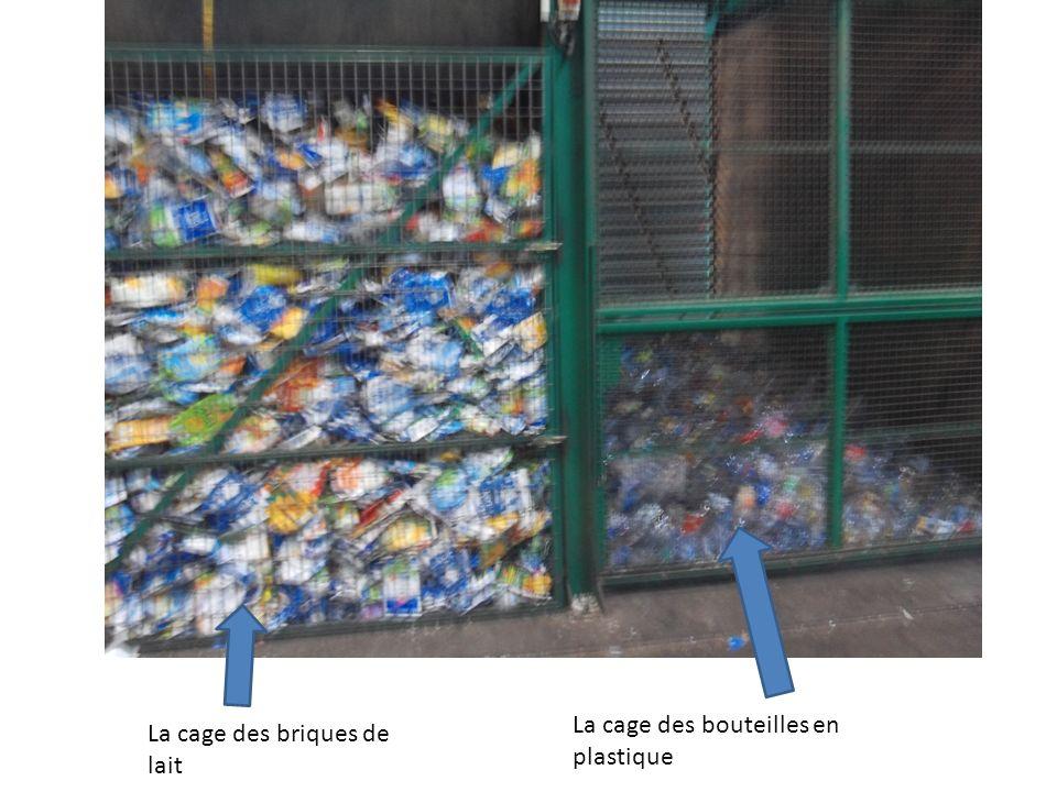 La cage des bouteilles en plastique