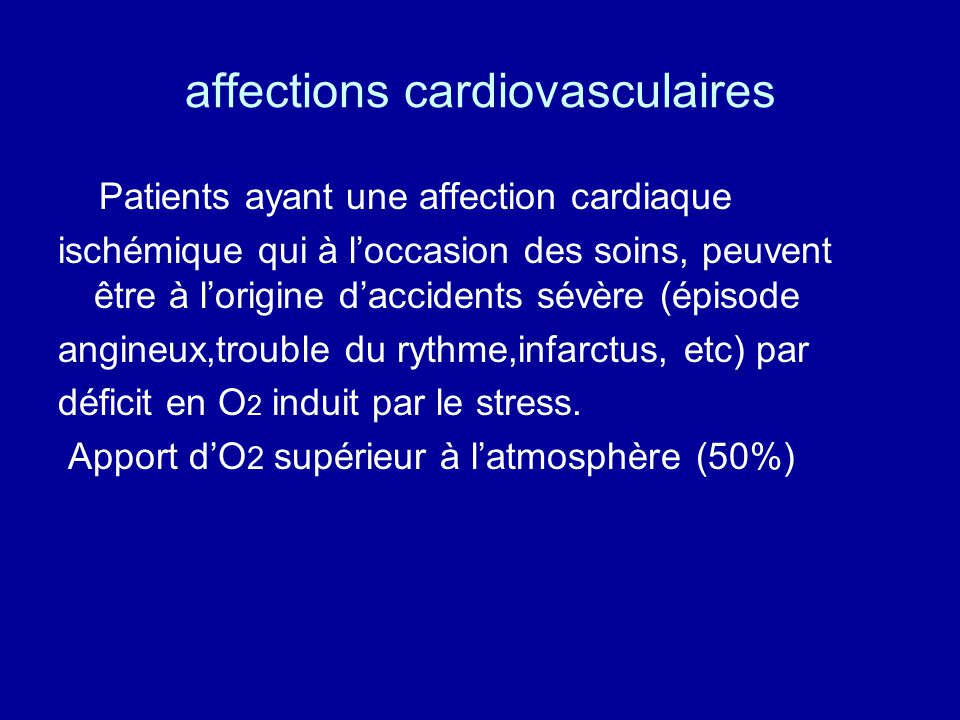 affections cardiovasculaires
