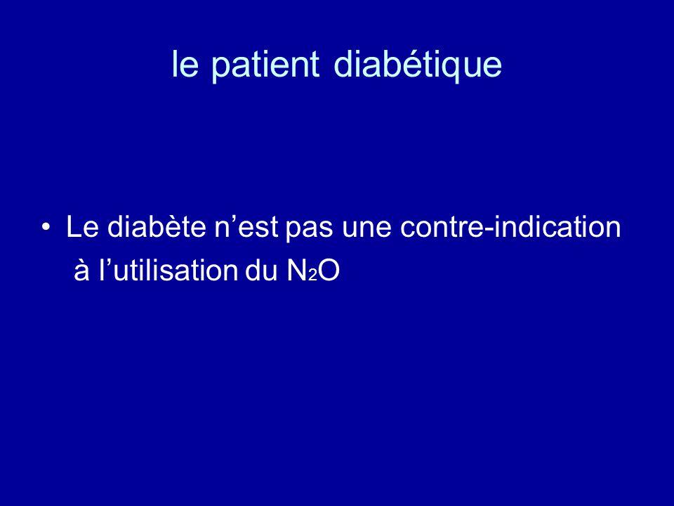 le patient diabétique Le diabète n'est pas une contre-indication
